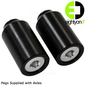 81 Customs PLASTIC Pegs - Black 81C6115PPBK