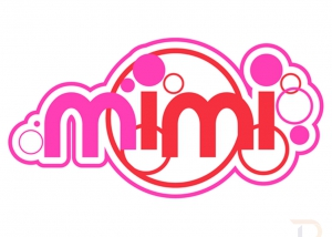 Mimi scooters Logo Pink Red