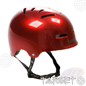 Target Metallic Red Helmet Angled View - 9203