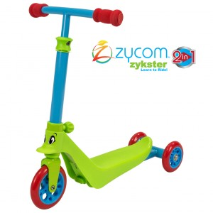 Zycom ZYKSTER Lime Blue Red - Angled Scooter - ZYC205-076
