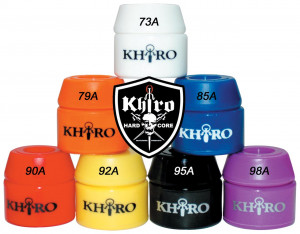 Khiro Skateboard Products Barrel Bushings ALL Stack with Logo