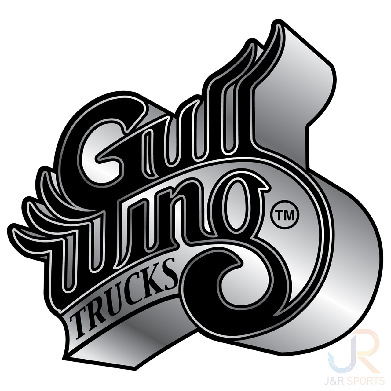 Gullwing Trucks Wings Logo Black Grey Fade