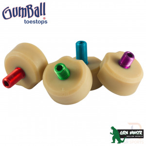 Grn Mnstr Gumball Superball Toe Stops - Coloured - GMGB122894