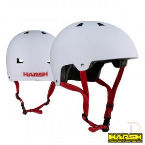 Harsh ABS Helmet - White - Angled & Rear - HA207-207