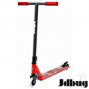 JD Bug NOVATO PRO Stunt Scooter - Red Black - Angled - JDMS118T