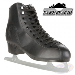 Lake Placid Ice Skates Firecat Black Angled View