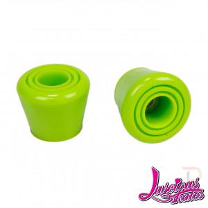 Luscious Roller Skate Top Stops - Green - Pair - LS204-755