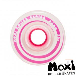 Moxi Roller Skates GUMMY Wheels - Pink - Clear Pink - 62mm 78A MOX102861