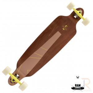 RAM Longboards Miloh - Mahogany Rose Angled - RL22288