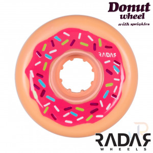 Radar Wheels Donut - Pink - Front - 62 x 32mm 78a - RWRDOPK