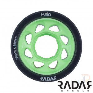 Radar Wheels HALO - Charcoal Green - Front - 59mm 97a RWRHA59GGN