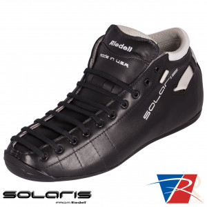 Riedell Skates Solaris Boot - Black - Angled - RSBSLBK