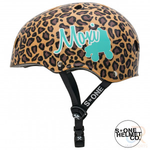 Moxi Roller Skates S1 LIFER Helmet - MOXI Leopard - Side - SHLIML