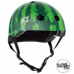 S1 LIFER Helmet - Watermelon - Angled - SHLIWM