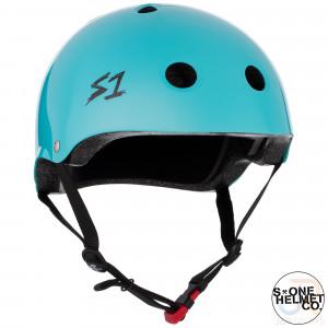 S1 Mini LIFER Helmet - Lagoon Gloss - Angled - SHMLIBLG