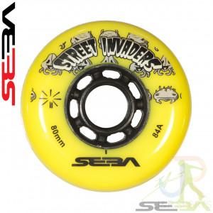 Seba Street Invader Wheels Yellow - 80mm 84A - SSK-SWL-S180-YEBK