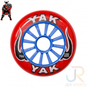 YAK - YAK CLASSIC - 100mm 78A - RED BLUE - YCL100REBL