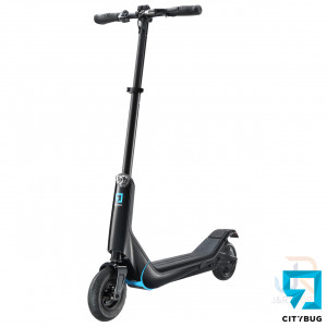 CityBug Electric Scooters 2S - Black - Angled Front - CBES317BK