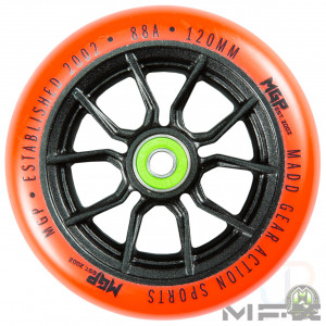MFX SYNDICATE AR 120mm Wheels - Black Orange - Face - MGP207-076