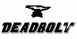 DeadBolt Logo Black White inc Anvil