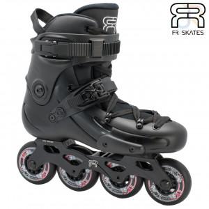 FR Skates - FR THREE 80 - Black - Angled - FRSKFR380BK